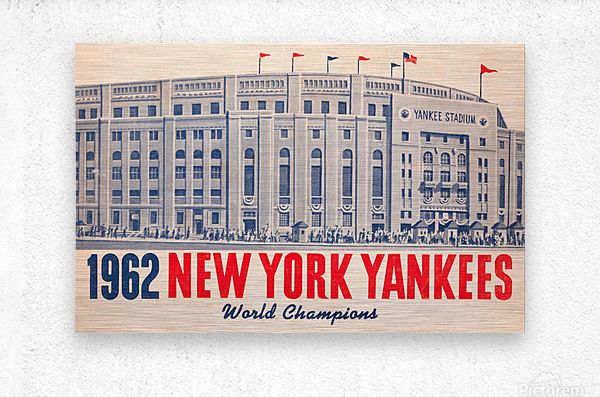 1962 new york yankees world champions  Metal print