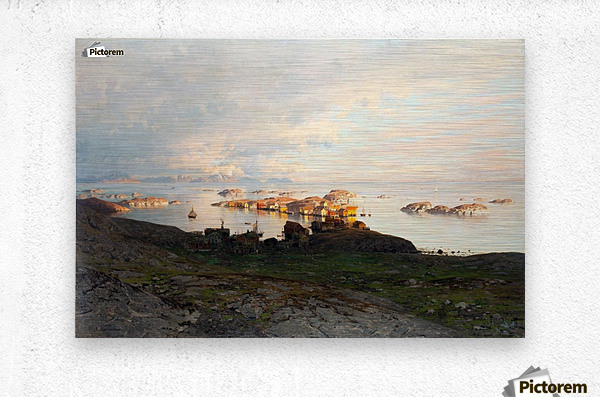 Summer night in Lofoten  Metal print