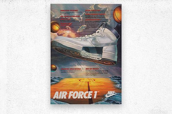 1984 Nike Air Force 1 Shoe Advertisement   Metal print