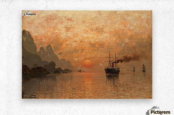 Ships in the Sunset  Metal print