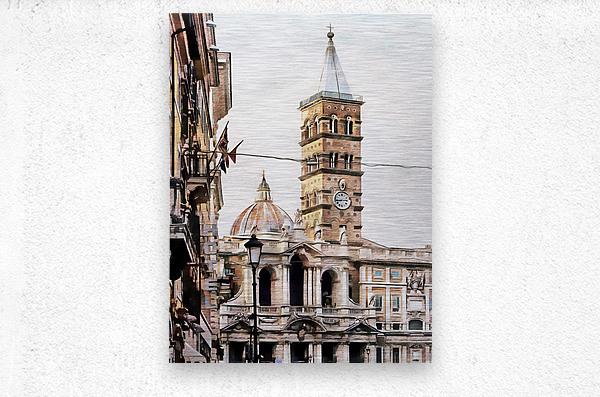 Street View Toward Basilica di Santa Maria Maggiore Rome  Metal print