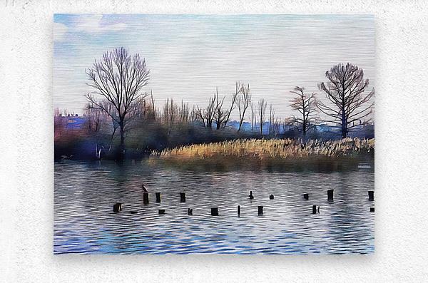 Lago di Chiusi Tuscany  Metal print