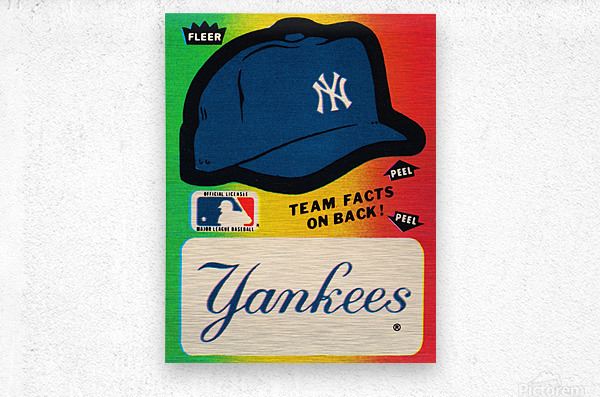 1982 fleer sticker new york yankees hat  Metal print