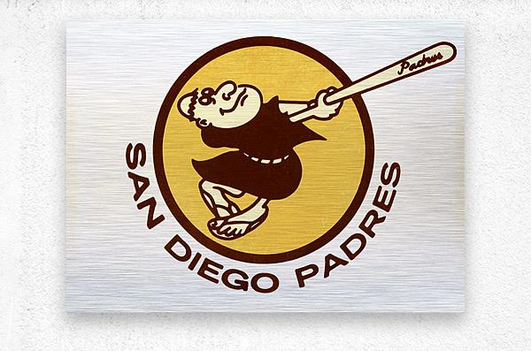Retro San Diego Padres Art  Metal print