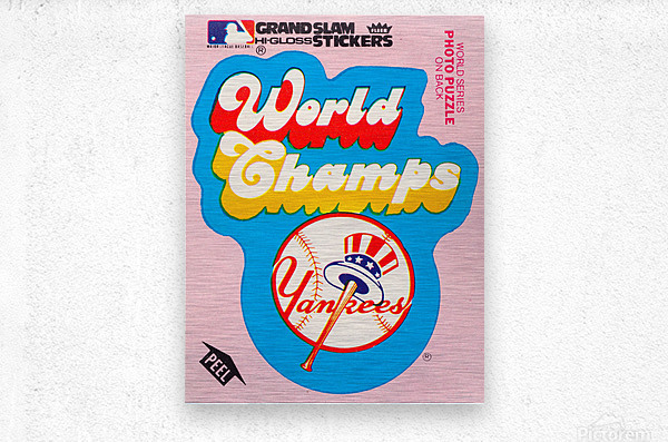 1979 fleer sticker new york yankees world champs poster  Metal print