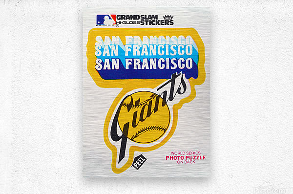 1979 fleer hi gloss san francisco giants sticker poster  Metal print