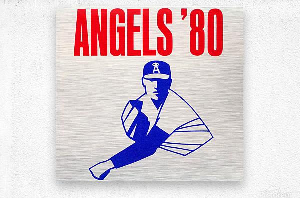 1980 california angels baseball pitcher art  Metal print