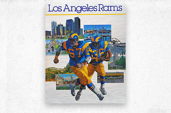 1982 la rams downtown los angeles hollywood poster  Metal print