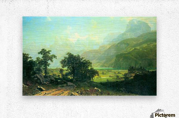 Lucerne Switzerland by Bierstadt  Metal print