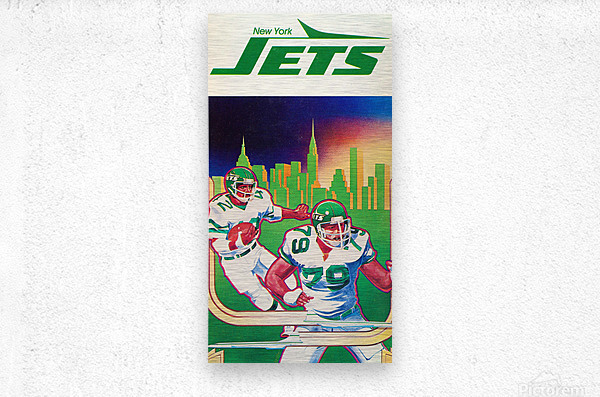 1981 new york jets football art  Metal print