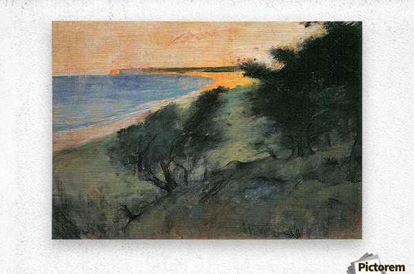 Coast of Rugen by Lesser Ury  Metal print