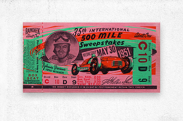 1951 indianapolis 500 mile sweepstakes auto race  Metal print