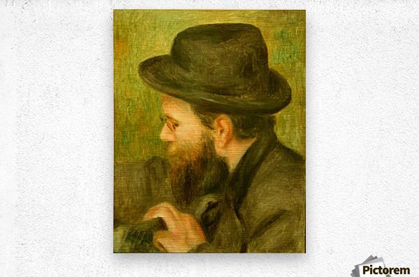M Bernard man with the black hat  Metal print