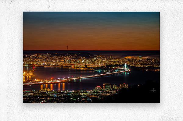 City to City - Berkeley to San Francisco  Metal print