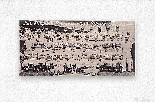 1963 la dodgers world champions team photo  Metal print