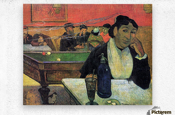 Madame Ginoux in Cafe by Gauguin  Metal print
