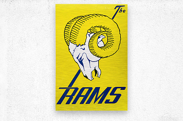 vintage los angeles rams art  Metal print