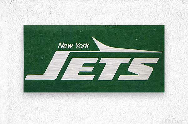 1981 new york jets reproduction artwork  Metal print