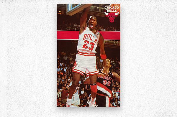 1987 michael jordan chicago stadium poster  Metal print