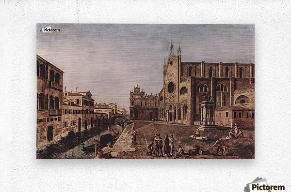 Campo santi Giovanni e Paolo, Venice  Metal print