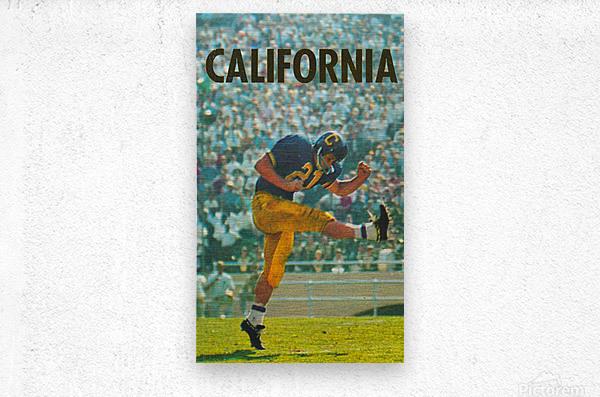 vintage california football art  Metal print