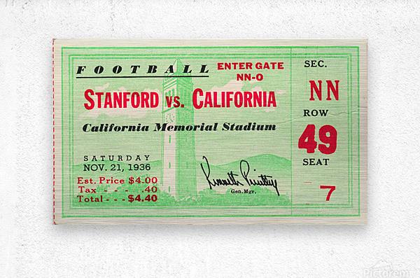 1936 Cal vs. Stanford  Metal print