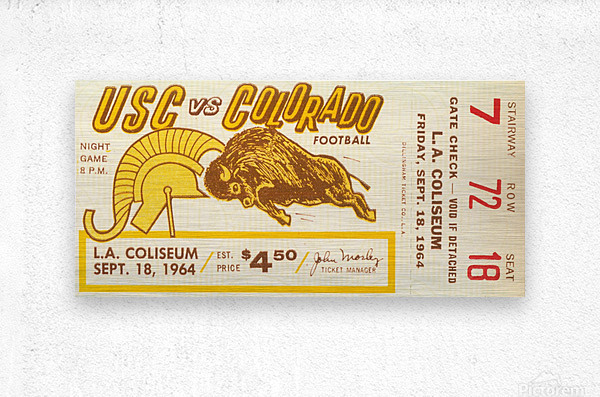 1964 USC vs. Colorado  Metal print