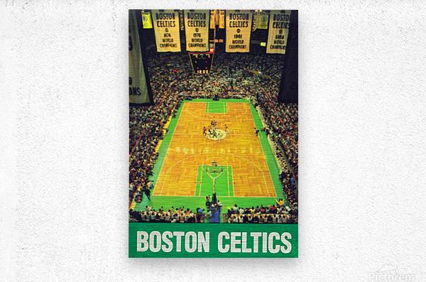 1988 Boston Celtics Boston Garden Art  Metal print