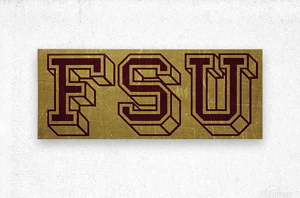 1950s Florida State University Art FSU  Metal print