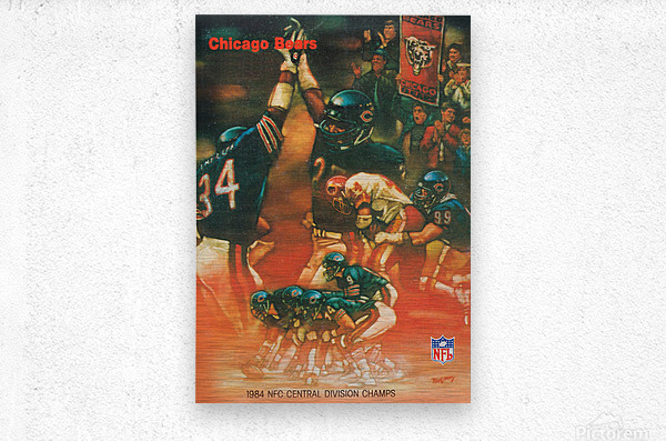 1984 chicago bears nfc central division champs art  Metal print