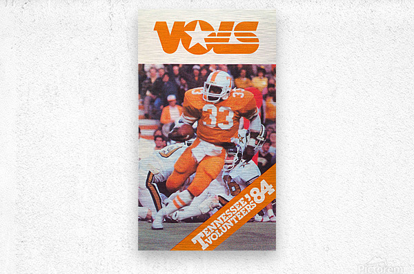 1984 tennessee vols college football poster  Metal print
