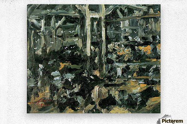 Cow Stable by Lovis Corinth  Metal print