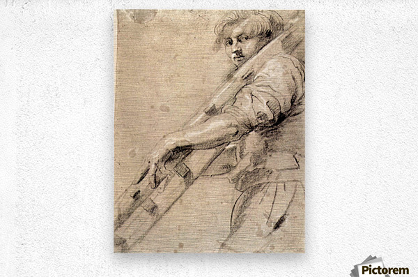 Man carrying a ladder by Rubens  Metal print