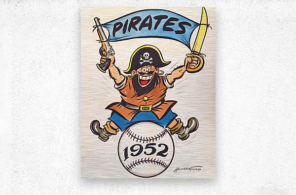 1952 pittsburgh pirates artist cy hungerford  Metal print