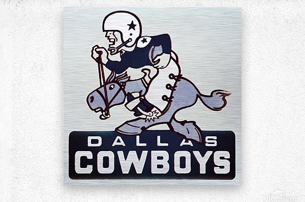 1960s dallas cowboys art  Metal print