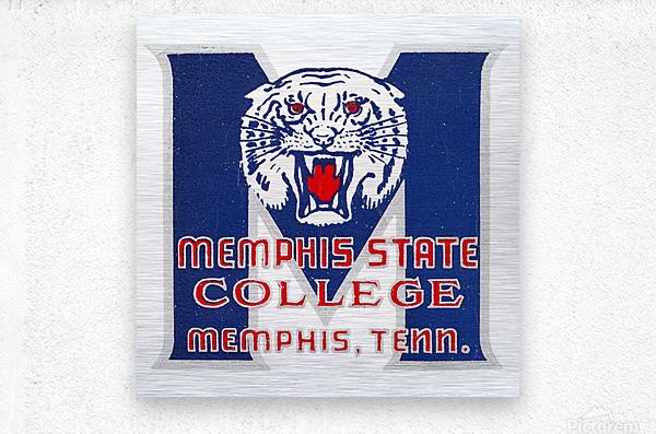 1950s Memphis State College Tigers  Metal print