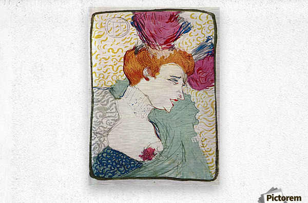 Marcellle Lender by Toulouse-Lautrec  Metal print