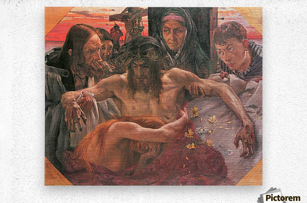 Crucify by Lovis Corinth  Metal print
