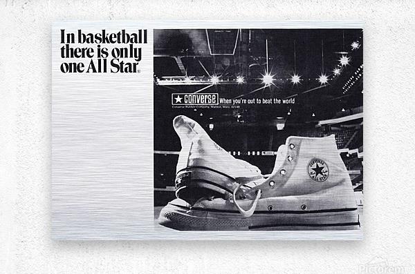 1968 converse all star shoe ad reproduction wall art  Metal print
