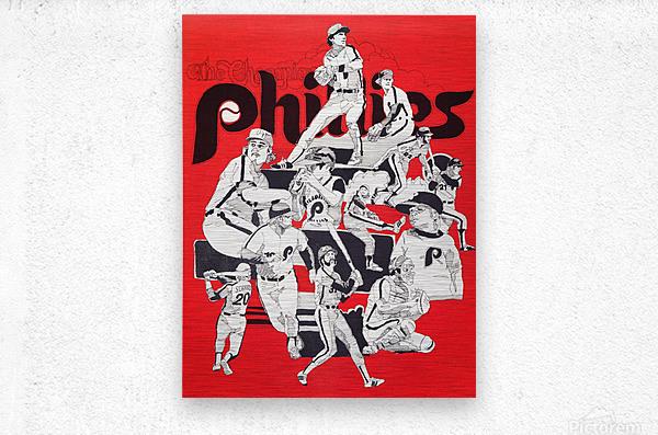 1977 philadelphia phillies champions retro baseball poster  Metal print