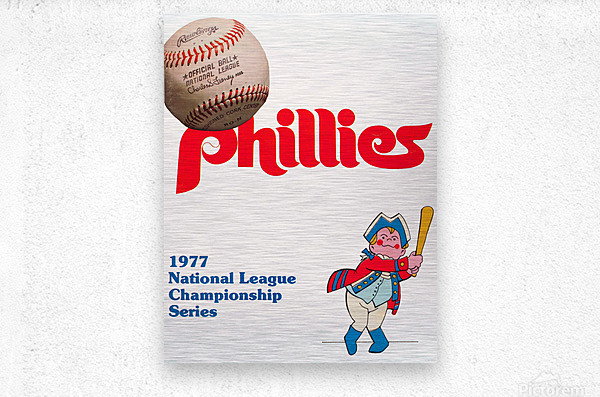 1977 philadelphia phillies national league championship series poster  Metal print