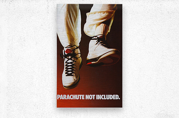 1987 nike air jordan ad poster parachute not included reproduction art  Metal print