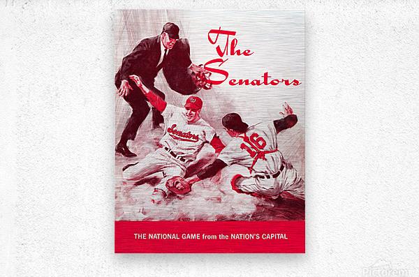 1968 washington senators baseball art  Metal print