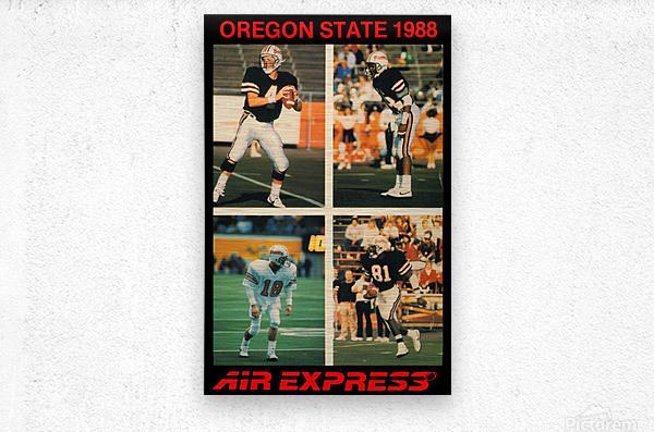 1988 oregon state osu beavers air express offense  Metal print