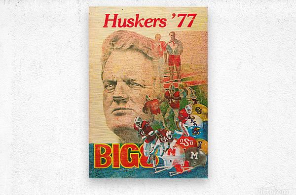1977 nebraska cornhuskers tom osborne big 8 college football poster  Metal print