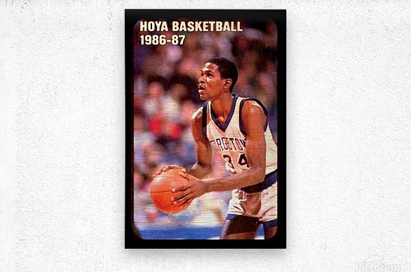 1986 georgetown hoyas basketball reggie williams poster  Metal print
