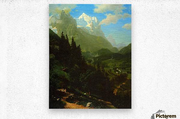 Matterhorn by Bierstadt  Metal print
