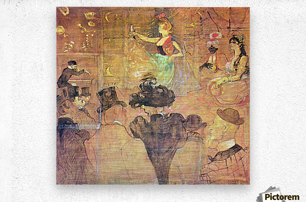 Mauri Dance by Toulouse-Lautrec  Metal print