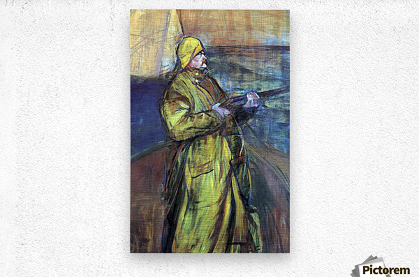 Maurice Joyant at the Bay Somme by Toulouse-Lautrec  Metal print