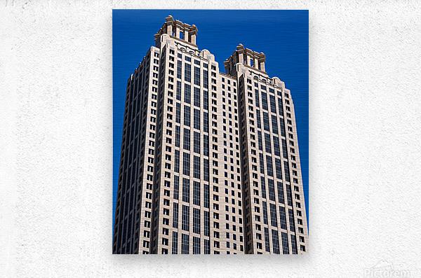 191 Peachtree Tower   Atlanta GA 6969  Metal print
